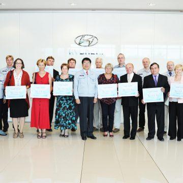 """Nošovický závod Hyundai rozděloval příspěvky v rámci programu """"Dobrý soused"""""""
