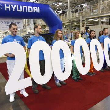 The Hyundai car plant in Nošovice produces its two millionth car